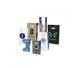 Bolsas de papel asa troquel personalizadas