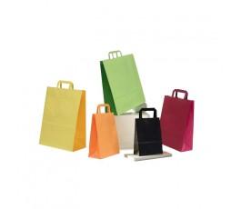 Bolsas de papel asa plana estándar