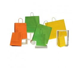 Bolsas de papel asa rizada estándar